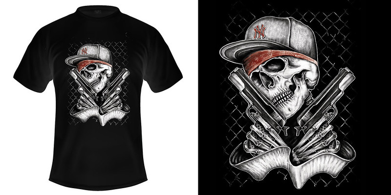 Shirt Skull Guns