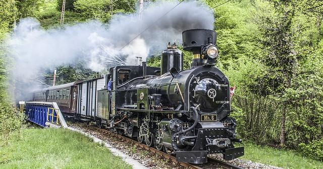 Dampfzug im Mostviertel Niederösterreich