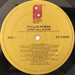PHYLLIS HYMAN:LIVING ALL ALONE(LABEL SIDE-A)