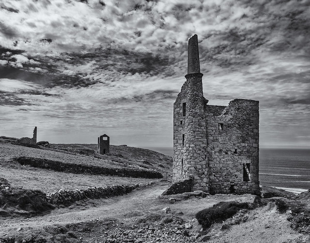 Tin mines on the coast.