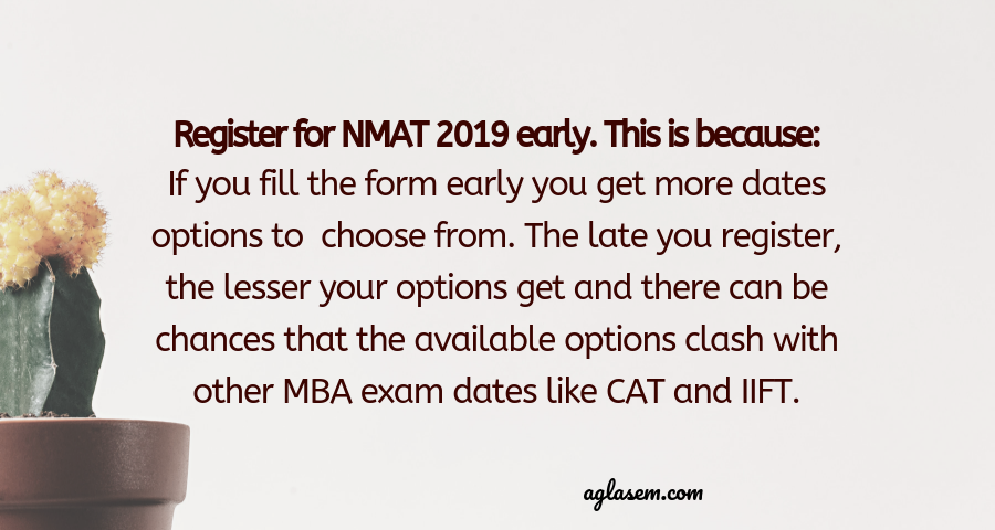 NMAT 2019 Application Form
