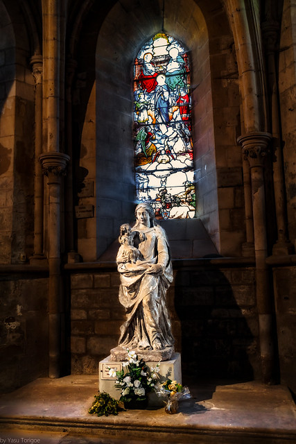 Interior of Petit Andely Saint Sauveur Church: Les Andelys, France --53a