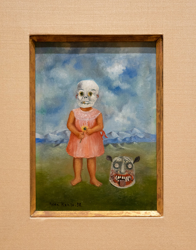 Girl with a Death Mask (She Plays Alone) - Frida Kahlo 1938