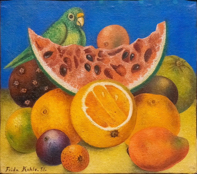 Still Life with Parrot and Fruit - Frida Kahlo 1951