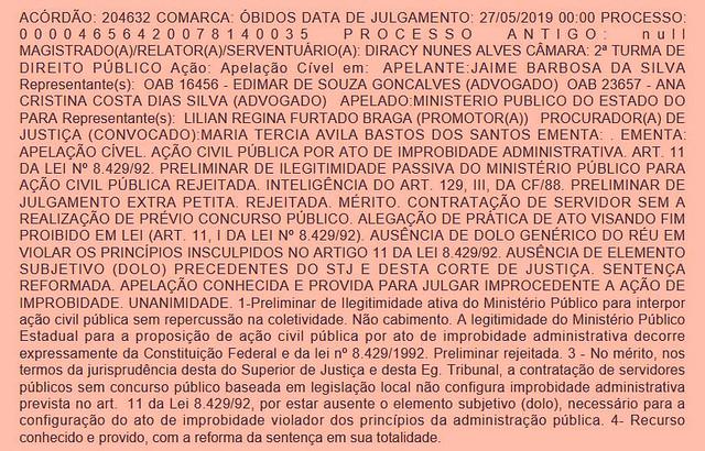 Jaime Silva - acórdão