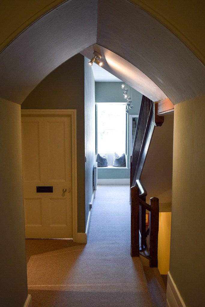 Upstairs Hallway at Trewornan Manor, Wadebridge