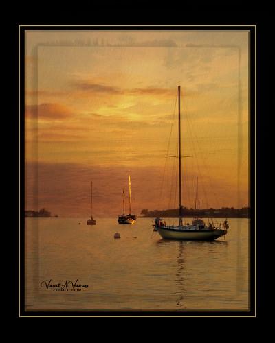 crespuscular sunset sailboats boat texture topaz sarasota