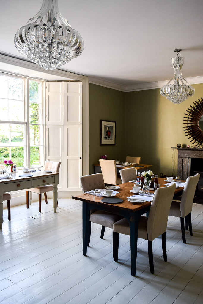 Breakfast Room at Trewornan Manor, Wadebridge