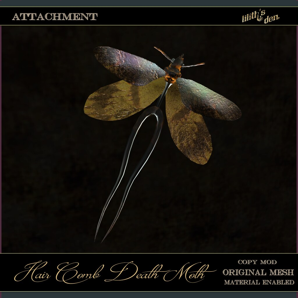 Lilith's Den -  Hair Comb Death Moth - TeleportHub.com Live!