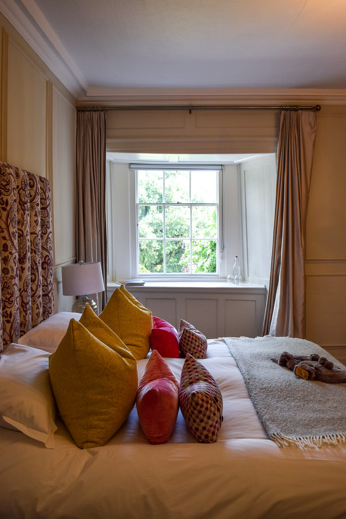 Bedroom at Trewornan Manor, Wadebridge