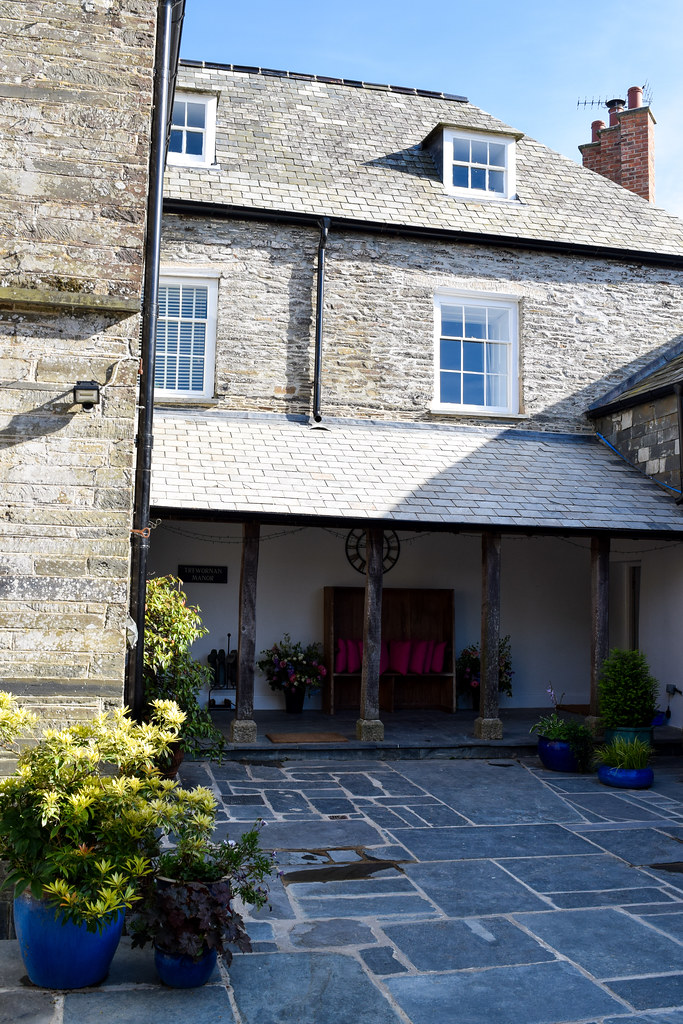 Courtyard at Trewornan Manor, Wadebridge
