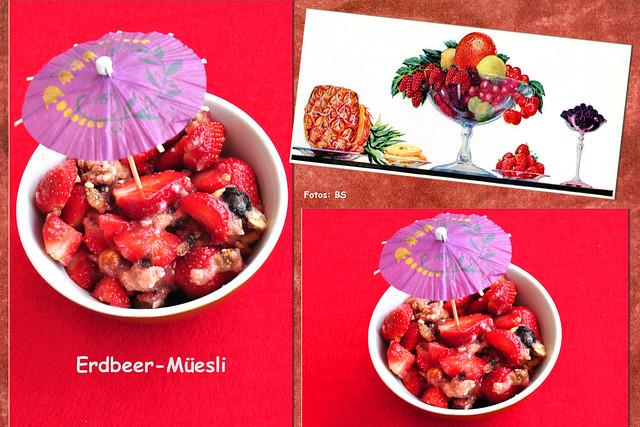 2. Juni 2019: Erdbeer-Bio-Müesli zum Frühstück ... Fotos: Brigitte Stolle
