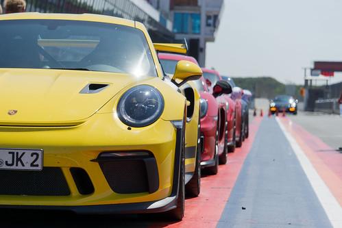 Row of Porsche's