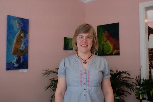 Anna-Stina Gerdin visar sitt måleri