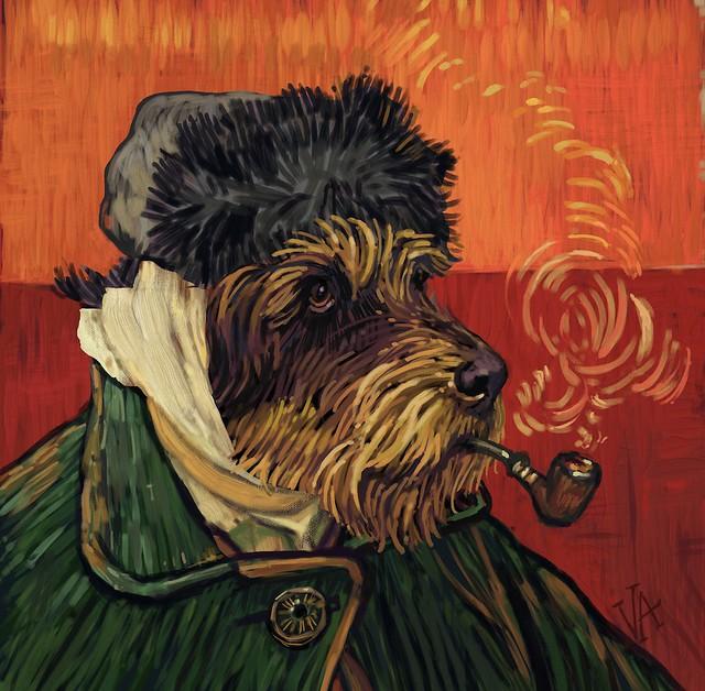Gussie van Gogh w Bandaged Ear