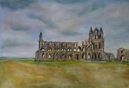 Whitby abbey (England) - Pastel