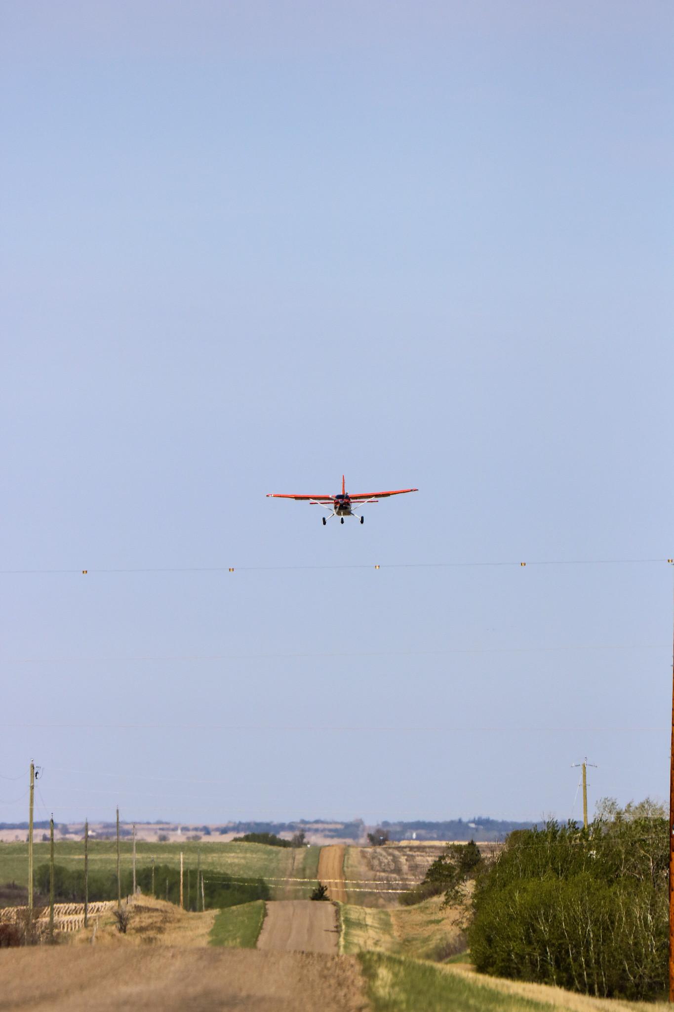 Spangler N710 flying over air ground segment. USFWS