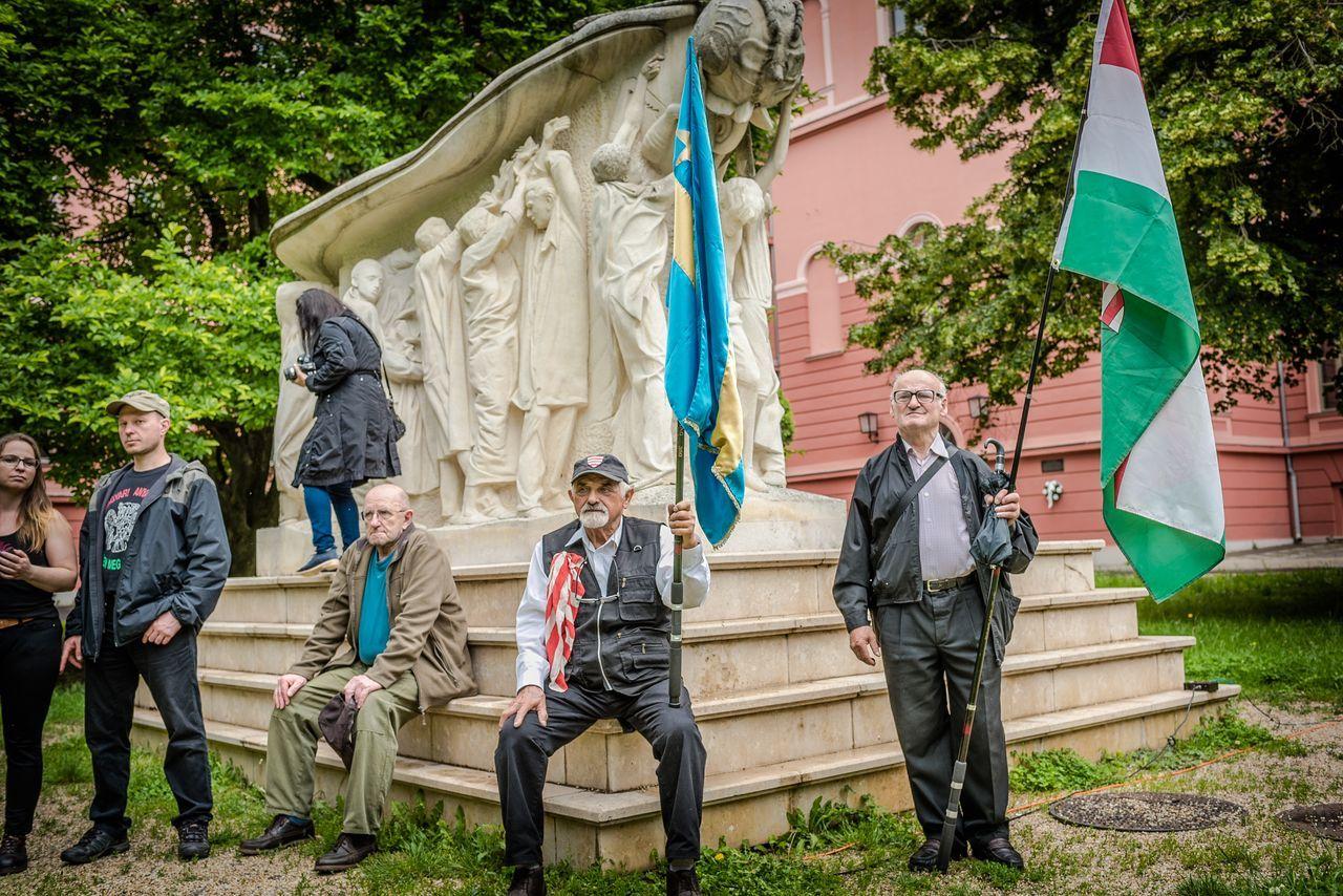Többen tüntettek ellenük, mint ahányan a Nemzeti Légióval voltak