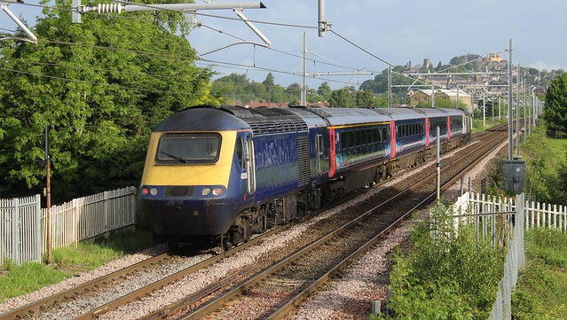 43136 (with 43141 leading) 1H05 07:07 Glasgow Queen Street to Inverness; Millhall Road, Stirling; 01-06-2019