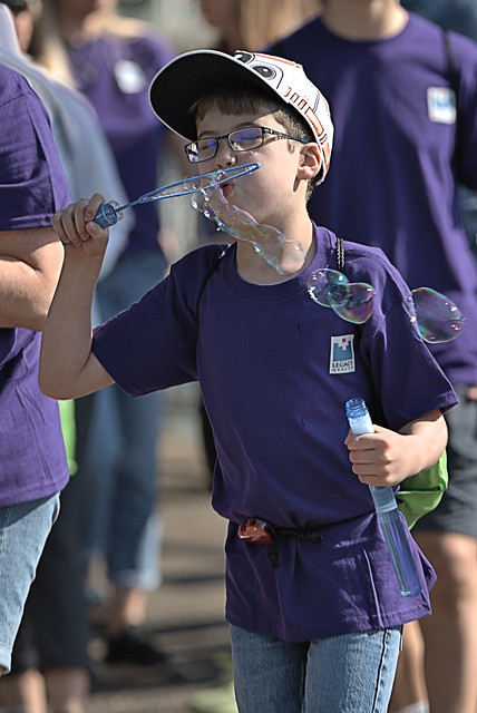 Bubble Blowing Boy