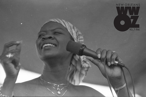 Irma Thomas in 1981. Photo by Burt Steel, courtesy of the New Orleans Jazz & Heritage Archive.