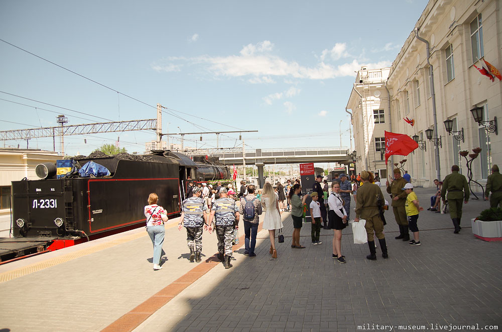 Эшелон Победы на вокзале в Волгограде -23