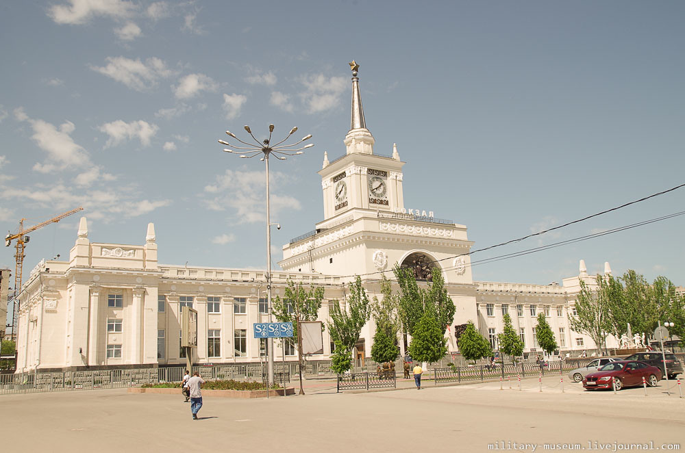 Эшелон Победы на вокзале в Волгограде -2