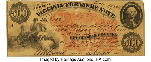 $500 Virginia Treasury note