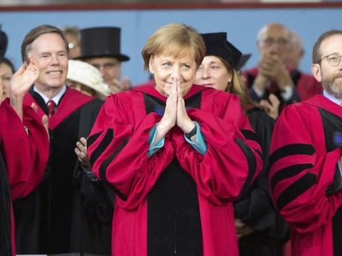 Angela Merkel honored at Harvard