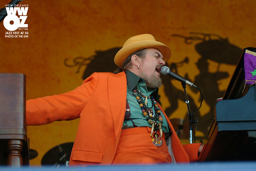 Dr. John at Jazz Fest 2005. Photo by Leon Morris.