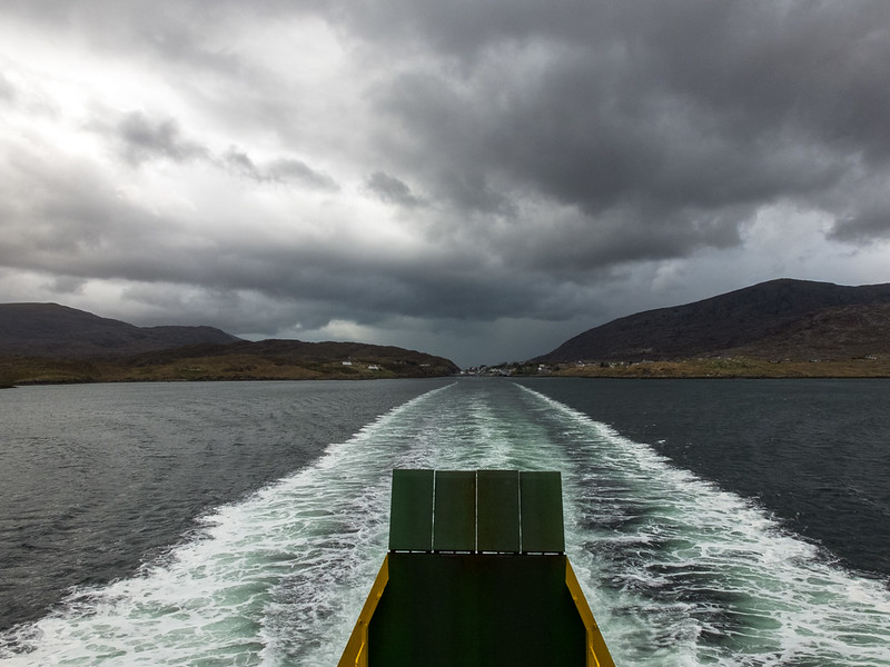 Leaving Harris on the ferry to Skye