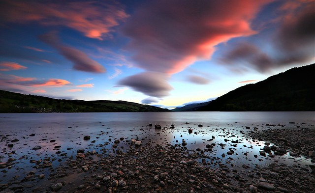 Loch Tay sunset, long expoure