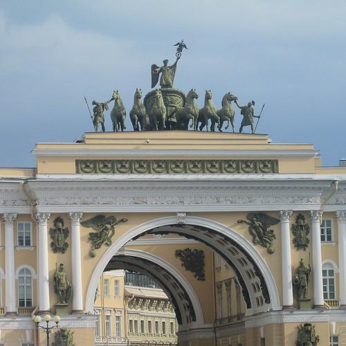 palace , horse statue pediment