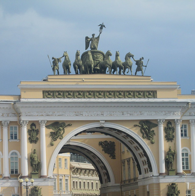 palace , horse statue pediment
