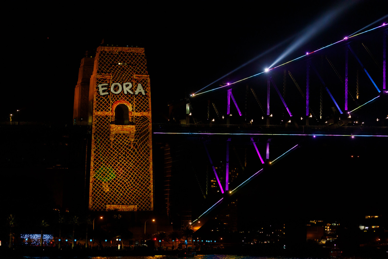 Eora on Sydney Harbour Bridge at Vivid Sydney