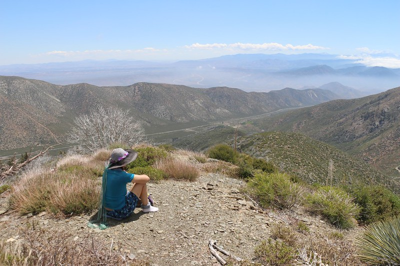 We took a break with a view into Lone Pine Canyon and the San Andreas Rift Zone, from the PCT