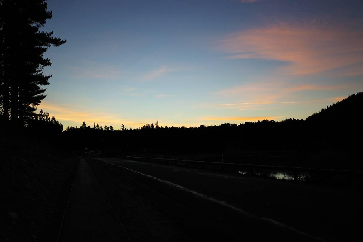 ニュージーランド 夕焼けの空