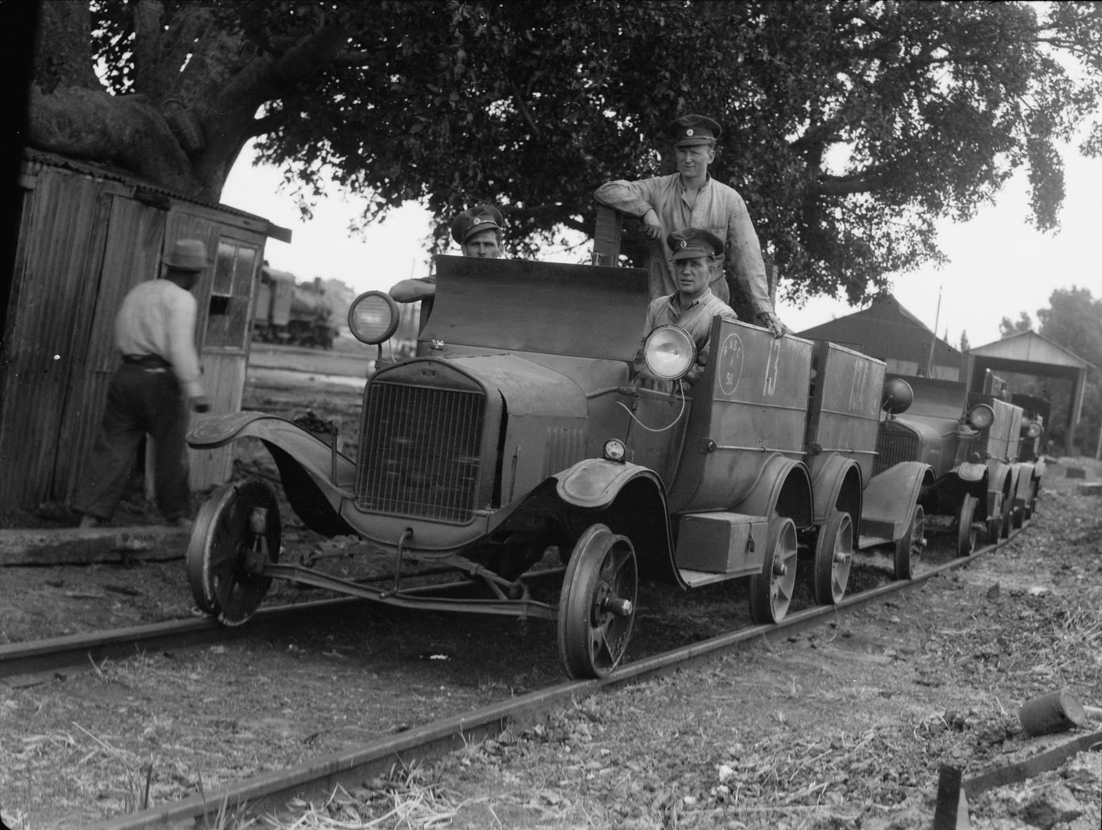 Бронемашины на палестинских железных дорогах, предшествующие пассажирским поездам