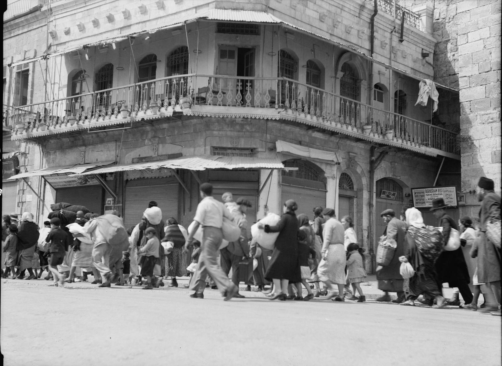 Исход евреев из Старого города у Яффских ворот
