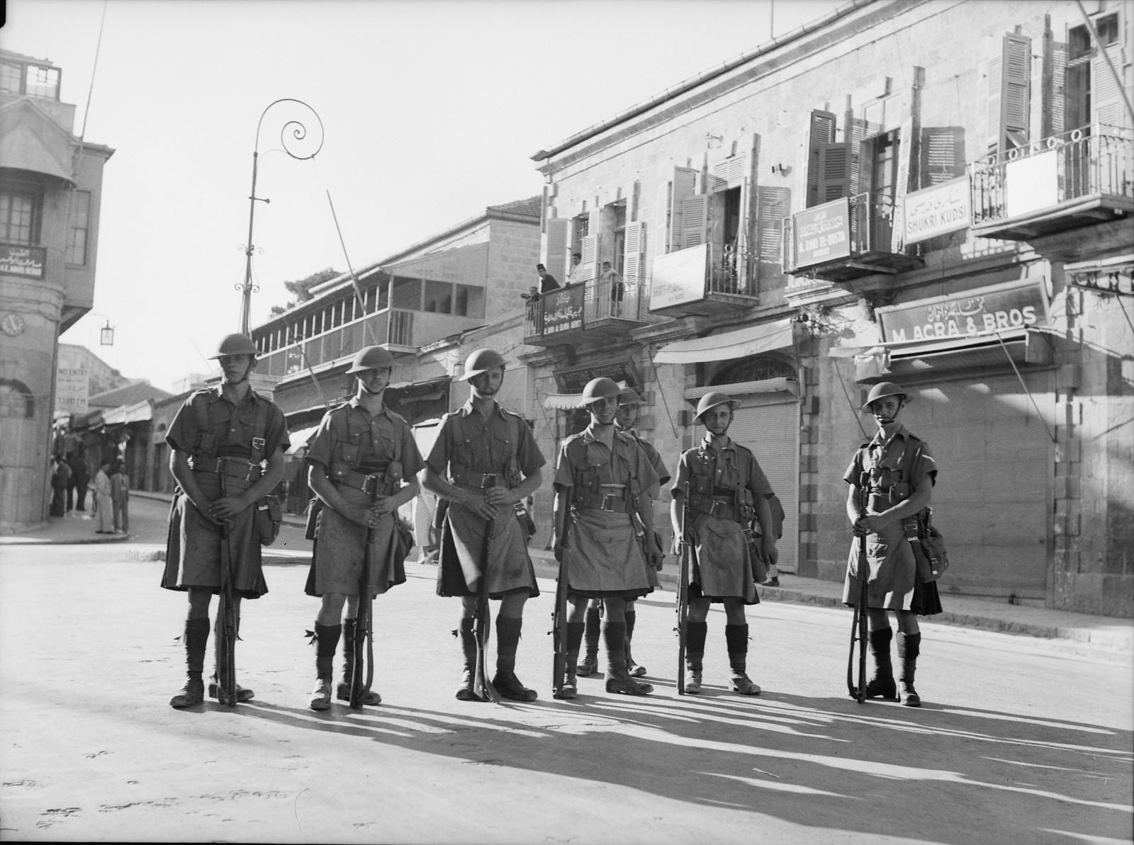 Британские солдаты у Яффских ворот
