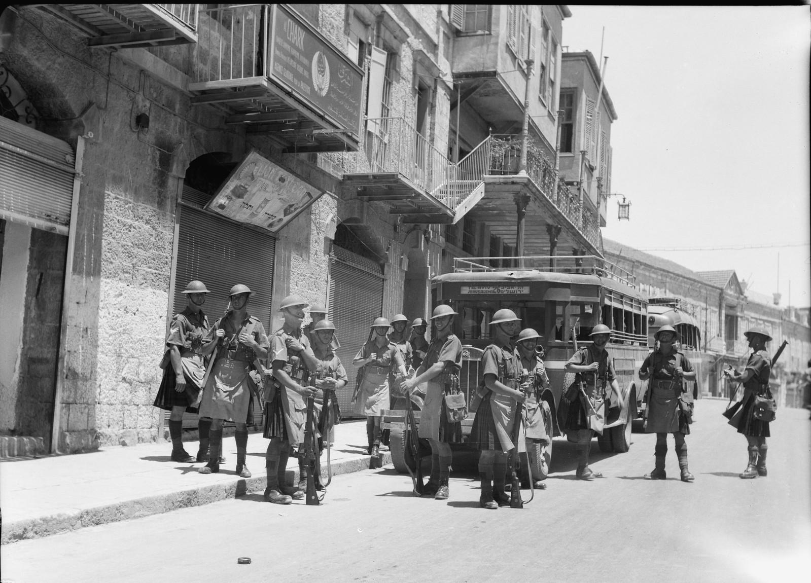 Иерусалим. Британские войска на улице Мамила
