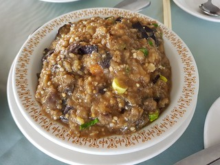 Eggplant and Fried Tofu at New Garden Chinese