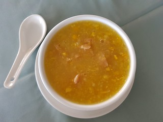 Chikn Corn Soup at New Garden Chinese