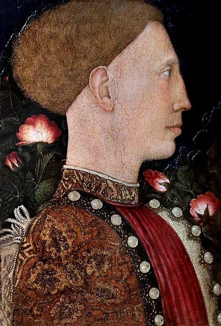 IMG_4145A Pisanello  (Antonio dI Puccio Pisano) 1394-1455  Venise, Brescia, Mantoue, Rome.... Portrait de Leonello d'Este  1441  Bergamo Accademia Carrara