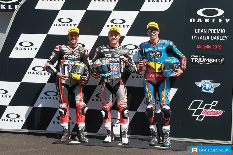Top 3 kwalificatie Moto2