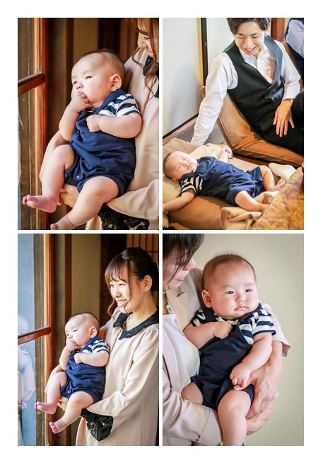 100日祝い ボーダーシャツのコード 男の子赤ちゃん