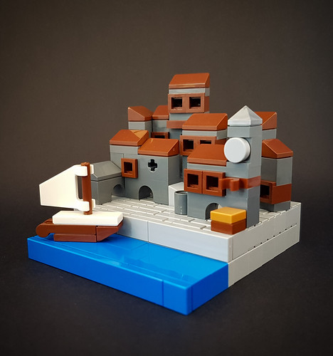 Hanseatic Town MOC. Side view.