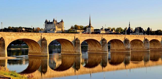 Château de Saumur & pont Cessart, Maine-et-Loire, Pays de la Loire