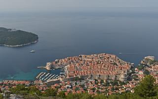 Croatia - Dubrovnik - view from Mount Srd