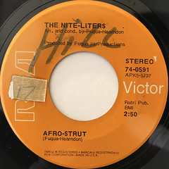 THE NITE-LITERS:AFRO-STRUT(LABEL SIDE-A)